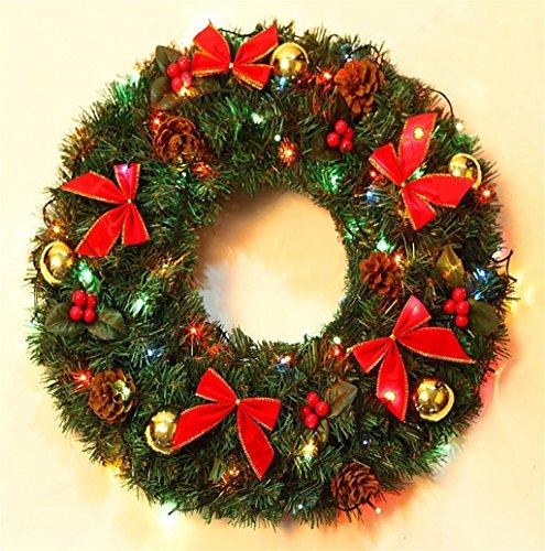 G&M Corona di Natale Porta Wall Hanging ornamenti di natale Ghirlanda Finestra del partito dell'albero Hoom Decorazioni di Natale , 40cm lantern 220v/1.2kg