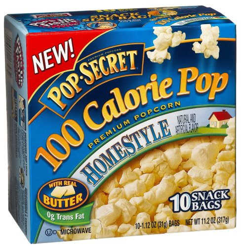 Pop Secret Popcorn, 100 Calorie Packs, Homestyle, 10-Count Packages (Pack Of 6)