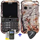 3 items Combo: ITUFFY (TM) LCD Screen Protector Film + Case Opener + Pine Tree Leaves Camouflage Outdoor Wildlife Design Rubberized Snap on Hard Shell Cover Faceplate Skin Phone Case for Samsung S390G (Straight Talk / Net 10 / Tracfone)