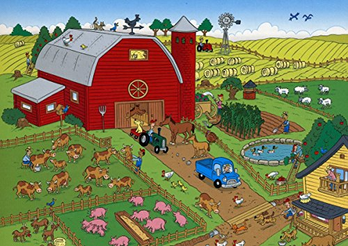 101 Things to Spot on the Farm 100 piece Puzzle