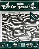 OZ International Lot de 20 Papiers origami 15 x 15 cm motif Animaux Couleurs Assorties...