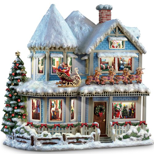 victorian christmas decorations thomas kinkade twas the night before christmas collectible story house by