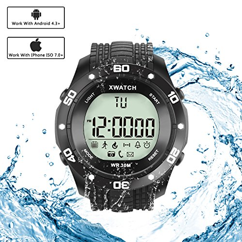 Simptech Sports Smart Watch Bluetooth Waterproof - LED Digital Watches ,Fitness Running Bracelet