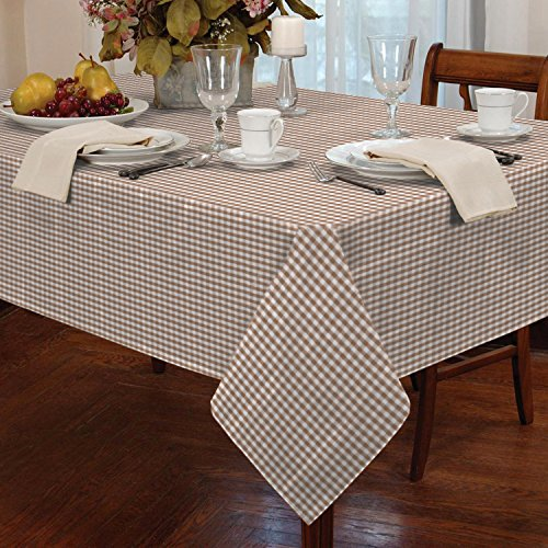 gingham check tablecloth dining room or kitchen table linen 60