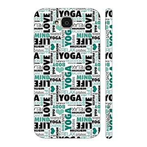 Enthopia Designer Hardshell Case Yoga Meditate Relax Back Cover for Huawei Honor Holly 2 Plus