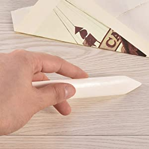 Bone Folder, Crafts Scoring Folding Indentation Paper Tools Hand-Made Scrapbooking Tools DIY Handmade Leather Polishing Molding Polishing Binding Cards and Paper Crafts