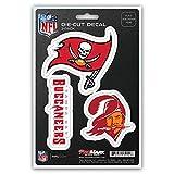 NFL Tampa Bay Buccaneers Team Decal, 3-Pack