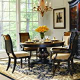 Round Pedestal Table by Hooker Furniture - Black (779-75-201)