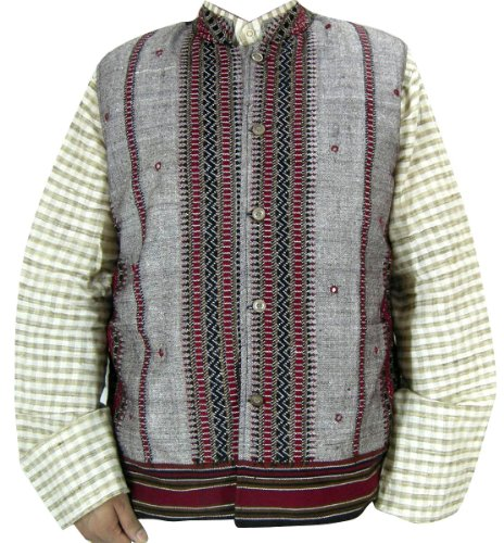 Woolen Mens Jacket Vest Outerwear Indian Clothing