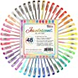 US Art Supply Jewelescent 48 Color Gel Pen Set Professional Artist Quality Gel Ink Pens