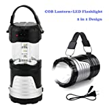 Operkey LED Camping Lantern Portable Outdoor Flashlight with Solar Panel, Camping Gear Handheld Flashlights 2-in-1 Camping Lights for Hiking, Camping,