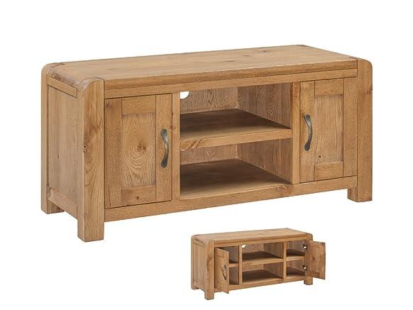 Caprice in legno massiccio di quercia, per TV, colore rovere massello TV al plasma, con 2ante–Finitura: Rovere rustico–salotto