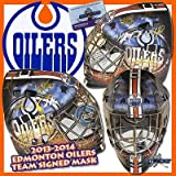 2013-2014 EDMONTON OILERS Team Signed FULL SIZE Goalie Mask - w/COA - Autographed NHL Helmets and Masks at Amazon.com