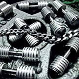 Generic Fitness_ dumbbell European _and_ American fashion necklace pendant Korean men man boy _domineering_ personality steel jewelry couple pendant necklace _muscle_tide_products
