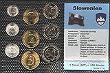 Eslovenia Stgl./unzirkuliert Kursmünzen 1992-2006 10 Stotin hasta 50 Tolar (monedas para los coleccionistas)