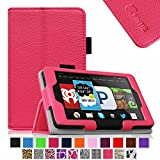 Fintie Fire HD 6 Tablet (2014 Oct Release) Case Slim Fit Leather Standing Protective Cover with Auto Sleep/Wake Feature (will only fit Amazon Kindle Fire HD 6-Inch Tablet 2014 Release), Magenta