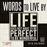 Words to Live By 2016 Wall Calendar