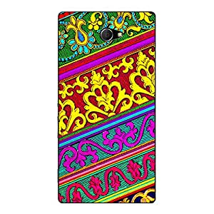 Jugaaduu Floral Pattern Back Cover Case For Sony Xperia M2