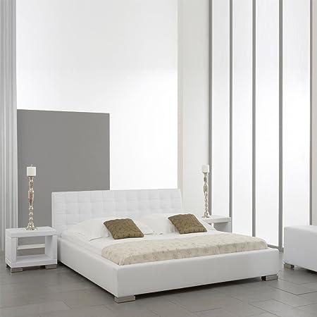 """Meise Möbel 361-10-50080 Polsterbett """"Isa"""" mit Kunderlederbezug, Liegefläche 180 x 200 cm, weiß"""