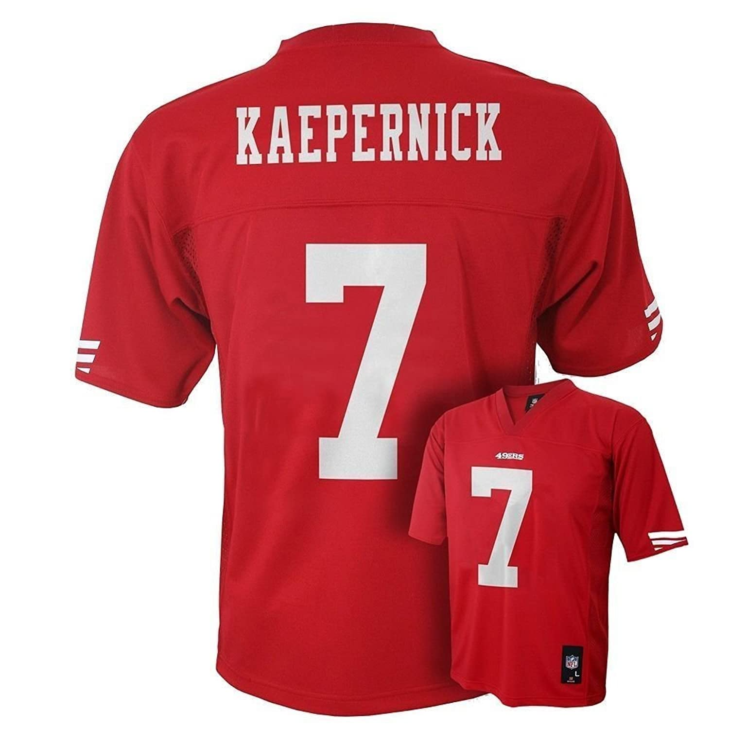 reputable site 67381 adee4 youth san francisco 49ers colin kaepernick nike black ...