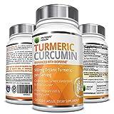 Organic Turmeric Curcumin with Bioperine® and 95% Curcuminoids - 900mg Organic Turmeric per Serving - 120 Veggie Capsules - Non-GMO, Made in the USA