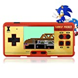 Hisonders 8 bit 2.8'' TFT LCD FC Retro Digital Games Portable Console Built-in 508+130 Games with Speaker - Red (Color: Rs-20 Red)