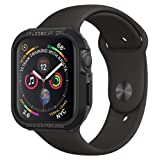 Spigen Rugged Armor Designed for Apple Watch Case for 44mm Series 4 (2018) - Black (Color: Black)