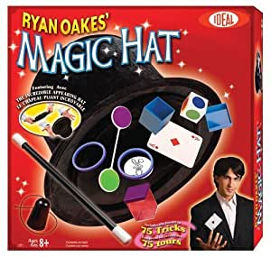 POOF-Slinky 0C2719BL Ideal Ryan Oakes 75-Trick Collapsible Magic Hat Set with Magic Wand and Secrets of Amazing Magic Tricks 35-Page Booklet by Ideal TOY (English Manual)