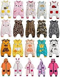 Vaenait Baby Toddler Kids Wearable Blanket Sleepsack Sleep Piggy M