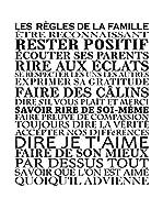 ZZ-Ambiance-sticker Vinilo Decorativo White Les Règles De La Famille