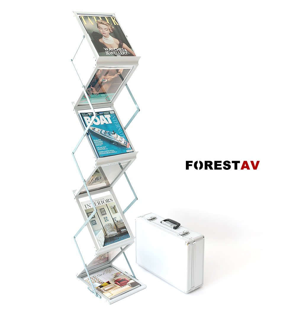 A4 FOLDING BROCHURE DISPLAY STAND WITH TRAVEL CASE       Customer reviews and more info