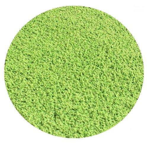 Bright Gremlin Green - 3' Round Custom Carpet Area Rug
