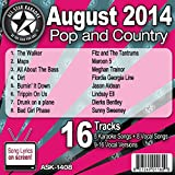 All Star Karaoke August 2014 Pop and Country Hits (ASK-1408)