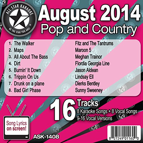 Florida Georgia Line - All Star Karaoke August 2014 Pop And Country Hits (Ask-1408) - Zortam Music