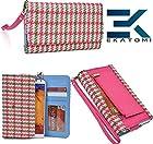 Ekatomi ™ METRO RETRO Wallet Wirstlet Case Clutch Cover ( MAGENTA PINK - GREEN ) Blackberry Z30