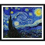 Tallenge - The Starry Night By Vincent Van Gogh - Small Size Ready-to-hang Framed Digital Art Print On Photographic...