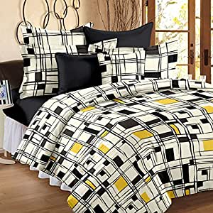 Story@Home Floral Print Premium Cotton Satin Soft And Light Weight Luxury Printed Reversible Single Size Comforter Microfibre filler, Black