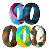 5 Pack Size 5-15 Rubber Silicone Rings Flexible Corssift Outdoor Wedding Engagement Gym Cocktail Hypoallergenic (12)