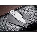 Credit Card Sized Folding Wallet Knife- This Is the Perfect Pocket or Survival Tool with Stainless Steel It's Cool, Portable, Practical, and Lightweig