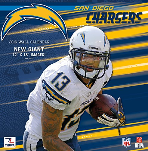 San Diego Chargers Calendar: Turner San Diego Chargers 2016 Team Wall Calendar