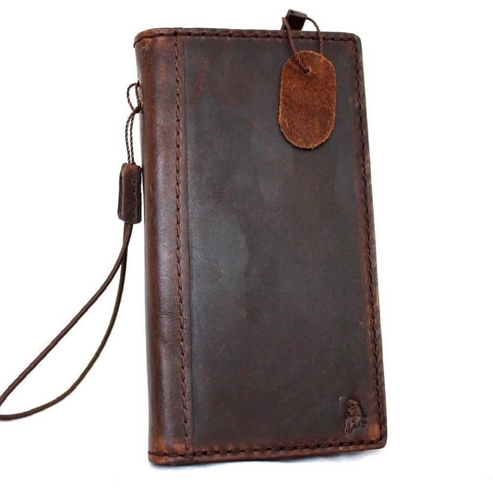 Genuine Italy Oil Leather Case for Iphone 6 Plus + Book Wallet