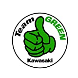 Kawasaki Team Green OriginalStickers0423 Set Of Two (2x) Stickers , Laptop , Ipad , Car , Truck , Size 4 inches on Longer Side (Color: green)