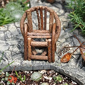 Miniature Bentwood Twig Chair For Your Fairy Garden Or Gnome Vilage - 275x375 Inches