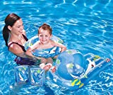 Kids Blue Swimming Pool 5 Piece Set Inflatable Beach Ball, Ring, Armbands and Surfer
