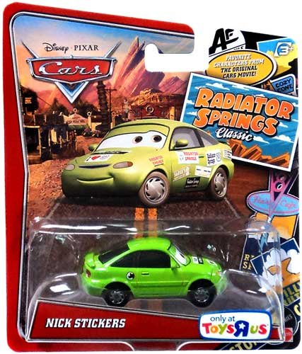 Disney / Pixar CARS RADIATOR SPRINGS CLASSIC Exclusive 1:55 Die Cast Car Nick Stickers