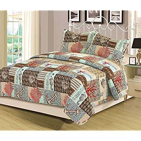 61V0LB6IgbL._SS450_ The Best Nautical Quilts and Nautical Bedding Sets