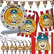 110-teiliges WICKIE PARTY SET f�r Kindergeburtstag mit 6-8 Kinder: Teller, Becher, Servietten, Einladungen, Partyt�ten, Trinkhalme, Wimpelkette, Luftschlangen, viele Luftballons, u.v.m. von FOLAT // Wickinger Junge Flake Ylva Halvar Ylvi Snorre Faxe Sven Geburtstag Party Feier