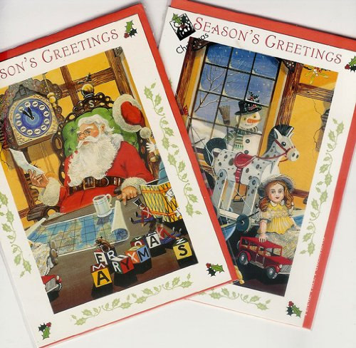 VICTORIAN XMAS CARDS FOR CHILDREN