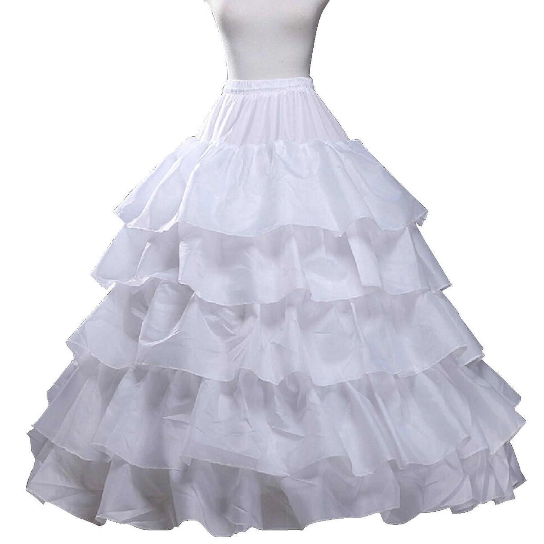 Fashion Plaza Unterrock 5 Schichten Rüschen 3 Reifen Braut Petticoat A0009 bestellen