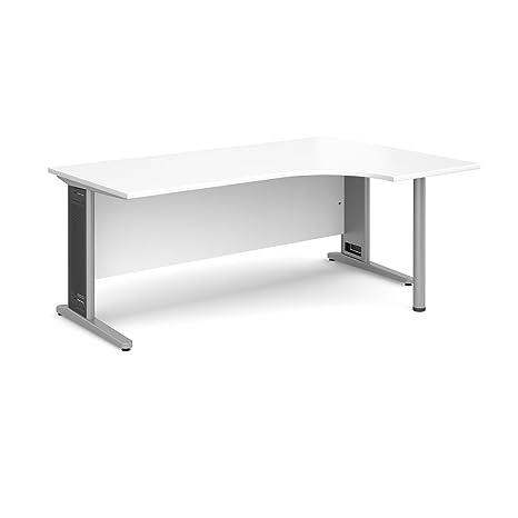 DAMS Largo 1800 Right Handed Ergo Desk, Wood, White